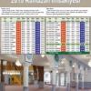 2015 Ramazan İmsakiyesi